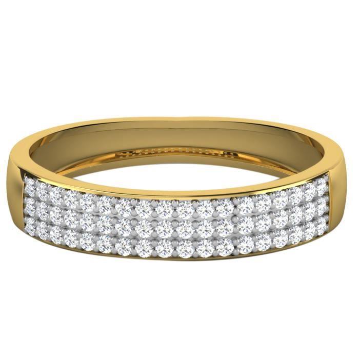 Bague or jaune9ct et diamants