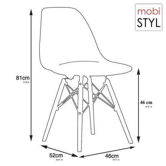 Bois 6 Inspiration Design Patchwork Eames DSW Chaise Noir x Noir Blanc Mobistyl® rsdtQCxhB
