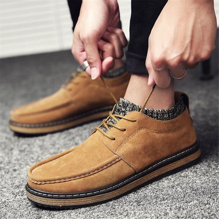 Chaussures hommes Automne et hiver Garder au chaud hommes Chaussure pour homme vintagedécontractées Sneakerdssx307noir43