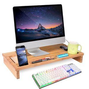 rehausse ecran ordinateur achat vente rehausse ecran ordinateur pas cher cdiscount. Black Bedroom Furniture Sets. Home Design Ideas