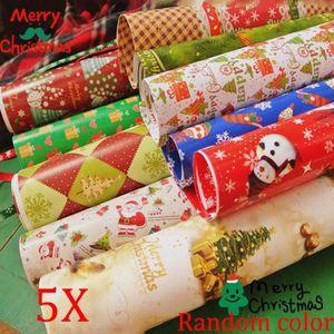 PAPIER CADEAU 5 pcs Emballage papier cadeau wrap artware emballa