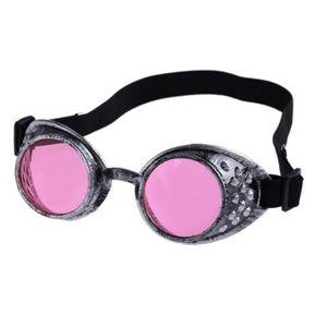 Lunettes de soleil style vintage Steampunk, lunettes de cosplay cosplay de soudage (Violet)
