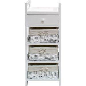 Meuble de rangement achat vente meuble de rangement for Petit meuble de salle de bain blanc