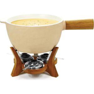 CASSOLETTE - TERRINE Service à fondue géant avec caquelon en céramique