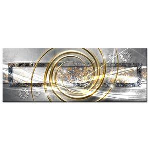 TABLEAU - TOILE Tableau Déco Abstrait Rouages et Spirales - Abstra