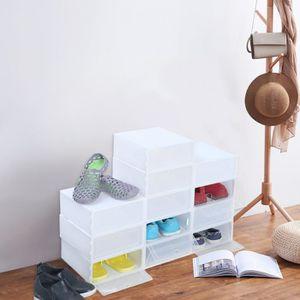 RANGEMENT - ÉTAGÈRE 12 Pièces en Plastique Transparent à Chaussures Bo