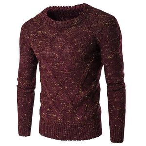 8745384f521a2d PULL Pull homme ronde col chaud l'automne et l'hiver.