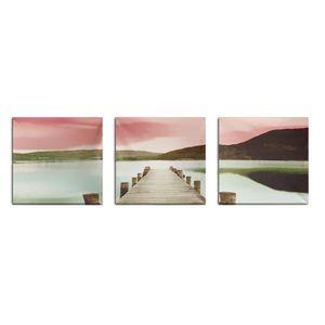 TABLEAU - TOILE TEMPSA 3Pcs Modern Pont Tableau Peinture à Huile T