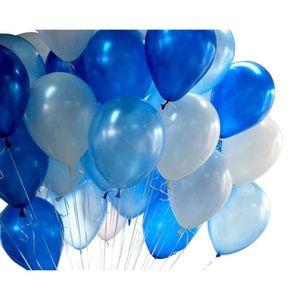 BALLON DÉCORATIF  Lot de 20pcs Ballons Bleu Et Blanc Latex Décoratio