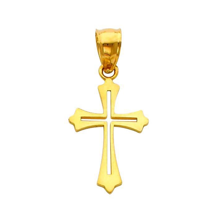 Pendentif 14 ct Or 585/1000 sérénité Croix