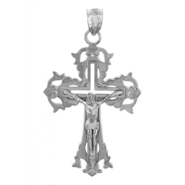 Collier Pendentif10 ct Or Blanc 471/1000 CrucifixLe Collier PendentifCrucifix Absolution (vient avec une Chaîne de 45 cm)