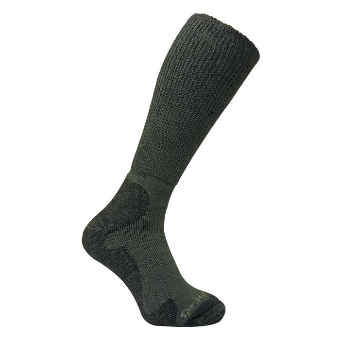 3c64a275950 Dr Hunter - Homme chaussettes vertes hautes longues laine merinos sans  elastiques pour randonnée