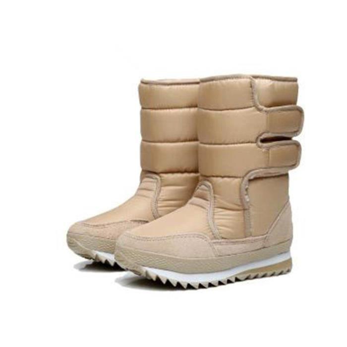 BotteFemme Hiver Mode Ultra ConfortableÀ Neige Étanches Pour Femme Coton Plus ÉpaisZX-x061marron-37 hw9oKhELX