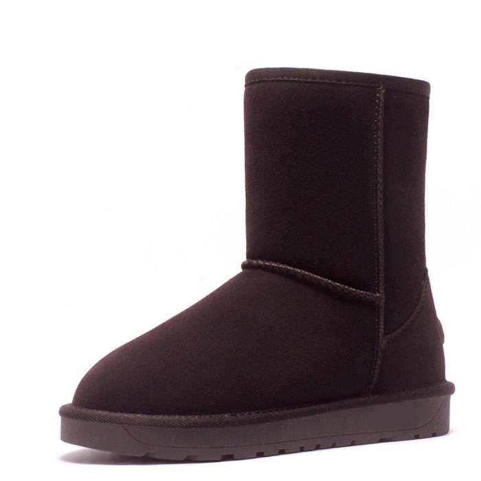 Bottes De Neige Pour Dames Hiver Chaussures En Coton Plates