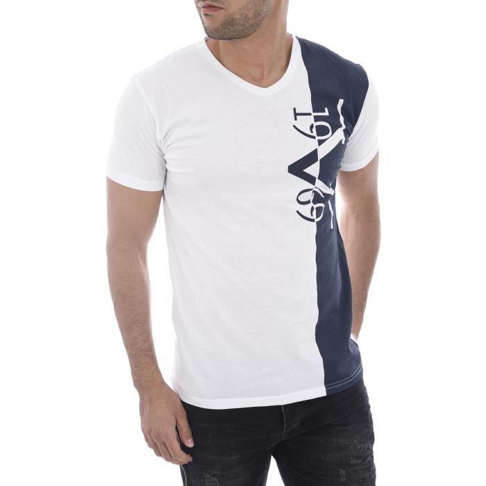 T-Shirt V1969 Homme Forli avec son étui Cadeau, Col rond, Couleur Noir 3ab0934170fa