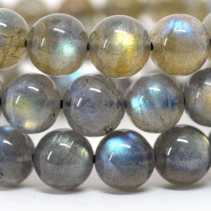 Womens Gem Semi Precious Gemstone 10mm Round Beads Stretch Bracelet 6.5 Unisex MY5AP