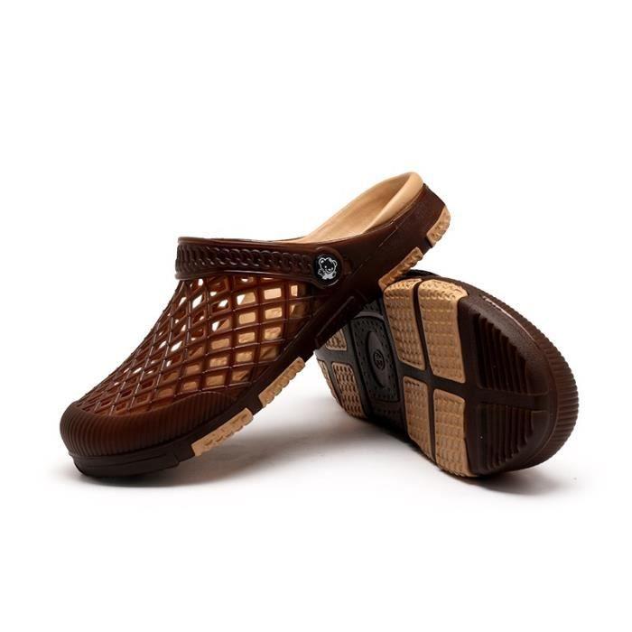 Printemps - été Chaussures style britannique Sandales d'homme