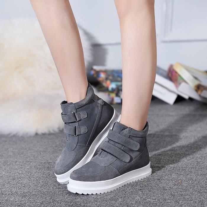 Bottes pour Femmenoir 40 Mode haute Hauts de femme Mode hiver plus Cachemire Matte chaussures chaudes en cuir (noir, g_45502