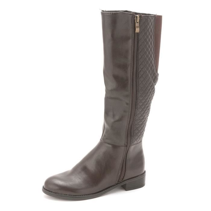 Womens Safe Almond Toe Mid-calf Fashion Boots RTGA3 Taille-39 1-2