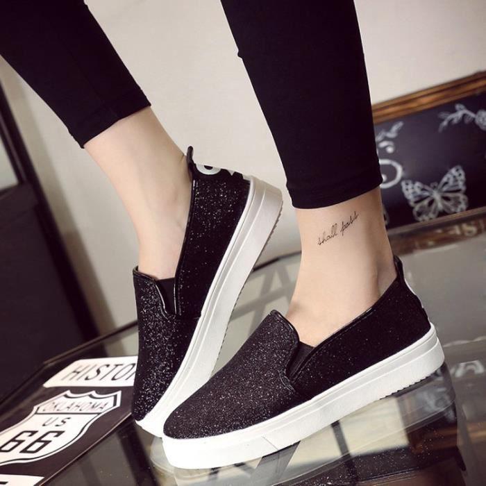 Femme Plates Noir Slip Casual Chaussures 4109 Mocassins Paillettes Printemps on De La gei RUq6qAxX