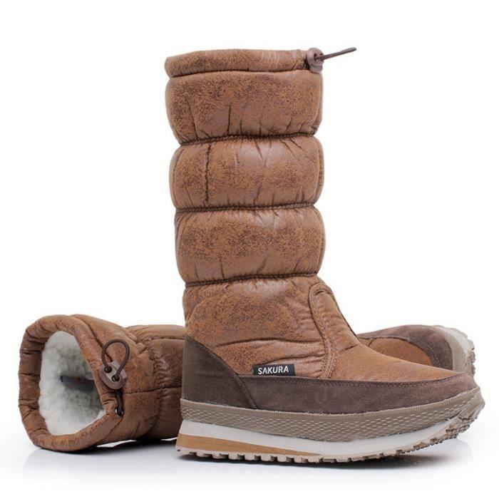 des femmes pour la garder Plus bottes brevet d'hiver le Nouveau de cuir chaussures neige chaudes chaussures fourrure taille mode vCICSqx6
