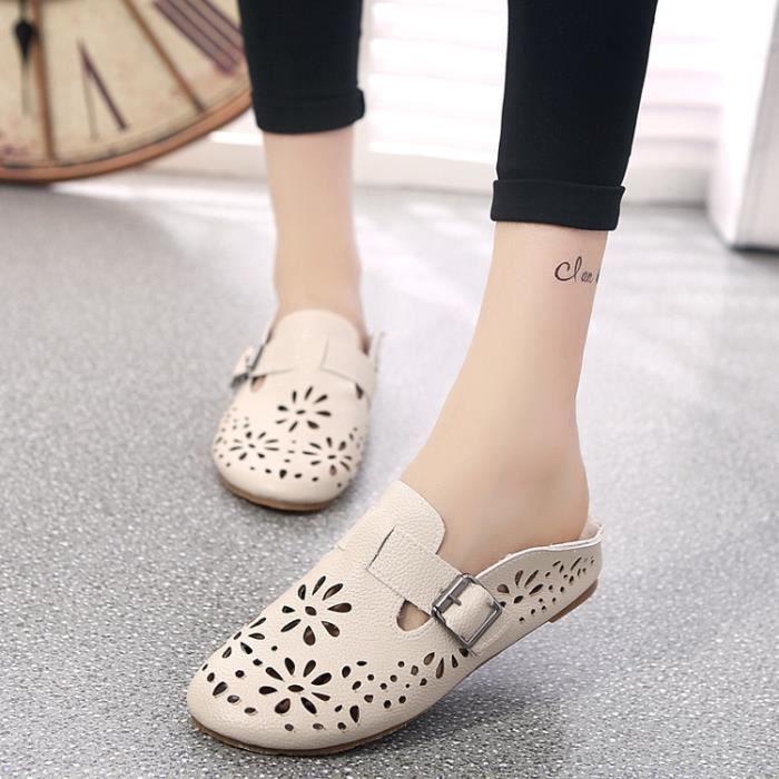 De nouvelles femmes Chaussures en cuir Mocassins Mère Mocassins douce Loisirs Flats Femme Chaussures Casual Auto,blanc,38
