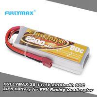 PIÈCE DÉTACHÉE DRONE FULLYMAX 3S 11.1V LiPo Batterie 2200mAh 80C T Fich