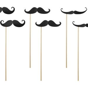 TULLE - NOEUD - RUBAN Moustaches photobooth mariage lot de 6 moustaches 3dc5aa56c95