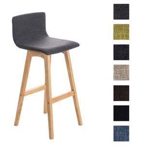 clp tabouret de bar taunus nature rev tement en tissu pi tement en bois hauteur assise 72 cm. Black Bedroom Furniture Sets. Home Design Ideas