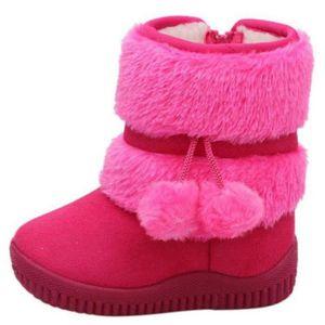 BOTTE Hiver Bottes Enfants En Peluche Chaussures Filles