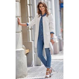 MANTEAU - CABAN Manteau cintré avec boutons et poches femme