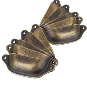 POIGNÉE DE RUCHE 10PCS Bronze Antique Coquilles Bouton Rétro Shell