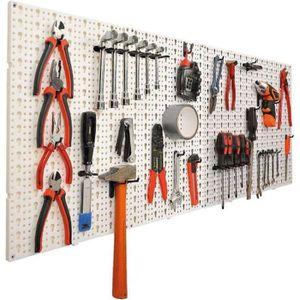 CROCHET - ANNEAU 2 panneaux muraux pour outils  pinces, tournevis e