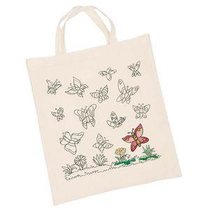 Support à décorer Sac en coton Papillons
