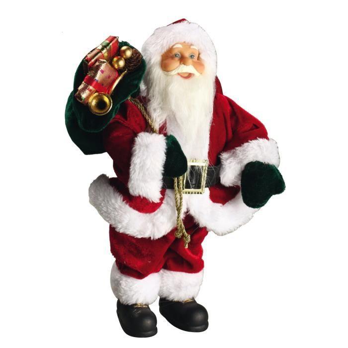 Personnage de Noël Père Noël rouge 30x15,5x8cm