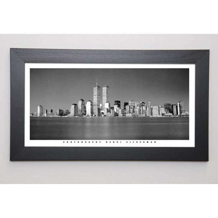 SILBERMAN Image encadrée New York Skyline 29,7x57 cm Gris