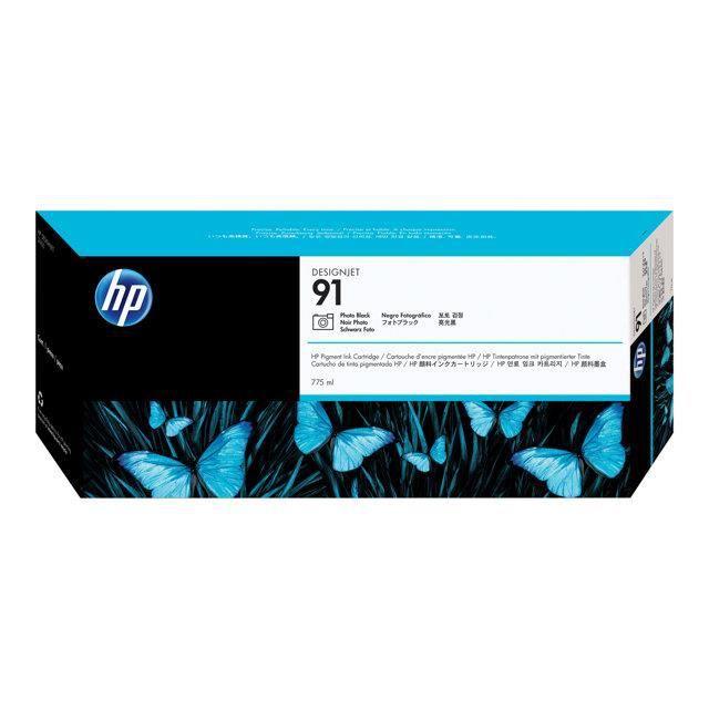HP Pack de 1 Cartouche d'encre photo 91 Original - Noir - Encre Vivera - 775 ml