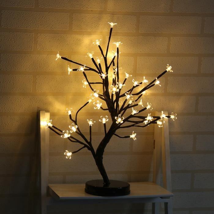 Led Lampe De Cerisier 48 Fleurs Des Lumieres D Arbre De Cerise 52 Cm
