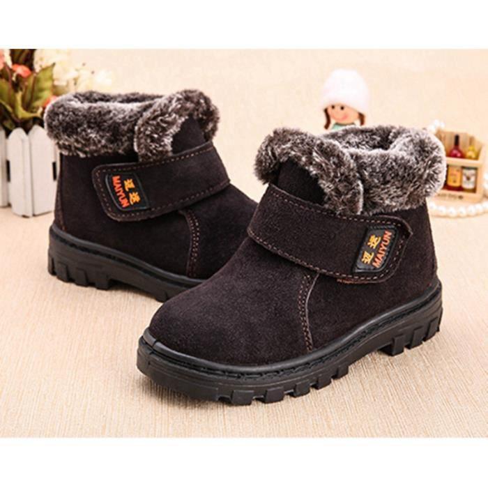 Chaussures pour enfants Bottes de neige Chaussures d'hiver peluches en peluche bottines garder au chaud Bottes courtes