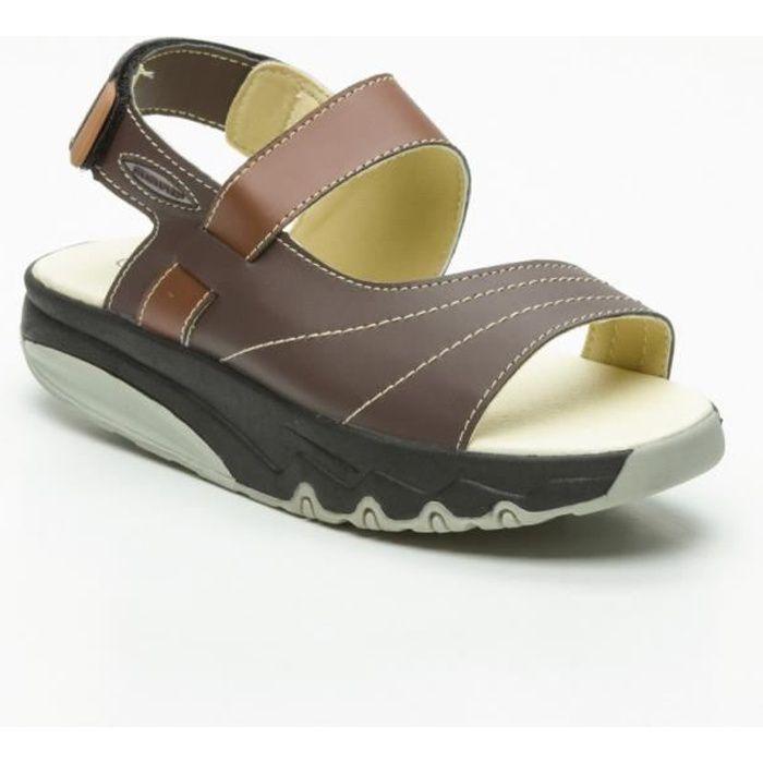 41212f1a06db Sandale Balancing shoes ouverte - Drainaflex Marron Marron - Achat ...