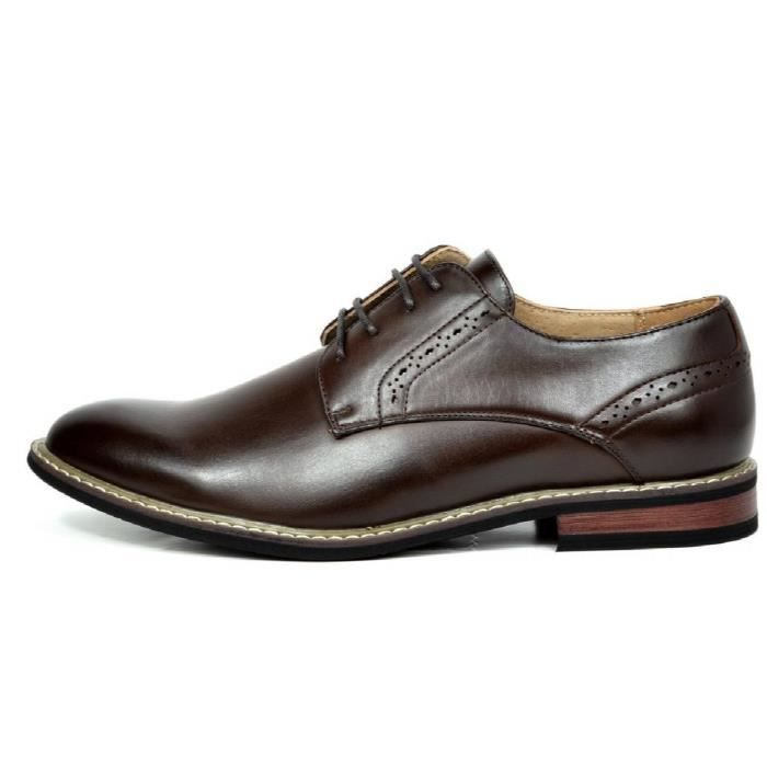 Bruno Marc-Prince Robe en cuir doublé Oxfords Chaussures F62YC Taille-38 1-2