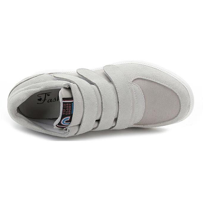 Rismart Femme Confortable Classique Coin Suède Mode Sneaker