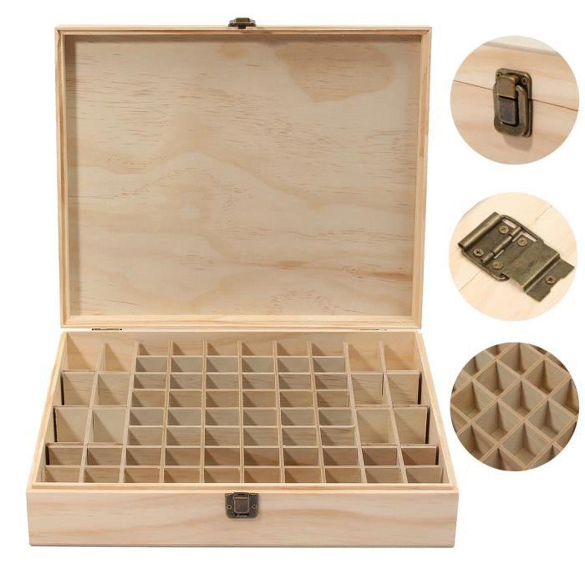 68 cases bo te en bois pour stocker bouteille huile for Case en bois