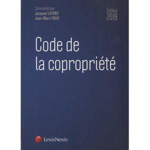 LIVRE DROIT AFFAIRES Code de la copropriété. Edition 2019