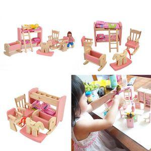MAISON POUPÉE Kid Pink meubles en bois poupées maison miniature