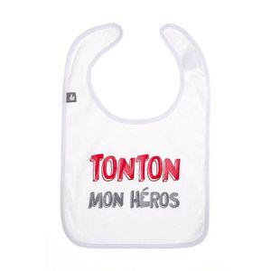 BAVOIR Bavoir Tonton Mon Héros Blanc de BB&co