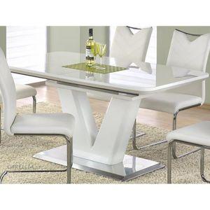 TABLE À MANGER SEULE TABLE A MANGER DESIGN RECTANGULAIRE EXTENSIBLE 160