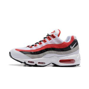 Basket Nike Air Max 95 Chaussures De Course Homme Blanc Rouge