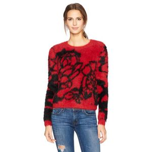 0fcfd5db58 Guess Women's Long Sleeve Carina Jacquard Sweater TJ7OY Taille-34 ...