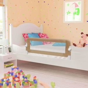 BARRIÈRE DE LIT BÉBÉ Barrière de sécurité de lit enfant Taupe 120x42 cm